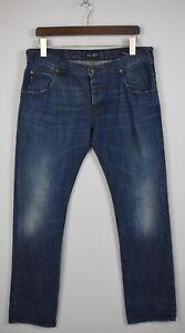 ARMANI Jeans CLASSIC WASH Mens EU W33 Fade Effect Button Fly Jeans JS14700_