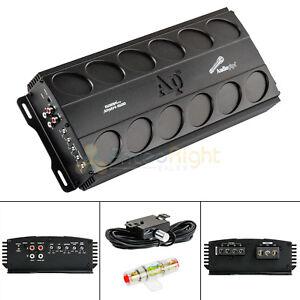 1500 W Amplifier Class D Amp Car Audio Bass Knob Fuse Audiopipe APMN-1500
