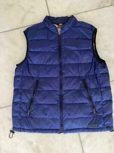 Burberry Down Filled Puffer Blue Vest Size L