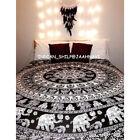 Elephant Mandala Wall Hanging Ethnic Hippie Cotton Home Decor Bohemian Bed Cover