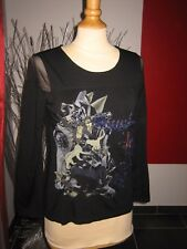 ELEGANT PULL TUNIQUE BRODée EMBROIDERED TOP PULL SAVE THE QUEEN T M 40 UK 12