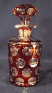 Ruby cut to clear perfume cologne bottle boston and sandwich as is