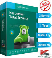 KASPERSKY TOTAL SECURITY 2021 - 1 Year - 2 Device - Global Key