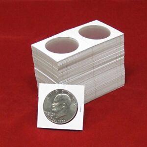 Cardboard Coin Holders Large Dollars Coins Display Sleeves Storage Pack of 100