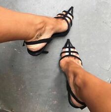 Womens Pointy Toe Slingback Sandals Pump Sexy High Heel Transparency Shoes club