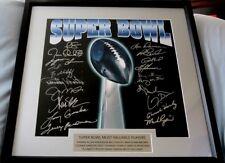 Super Bowl MVPs signed lithograph framed Aikman Bradshaw Montana Simms Swann +14