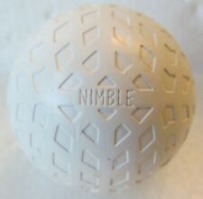 VINTAGE GOLF BALL WITH UNUSUAL COVER DESIGN-THE NIMBLE-CIRCA 1918  REPAINTED