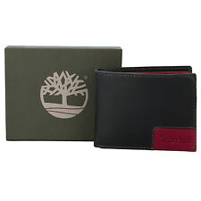 Timberland Mens 2 Tone Slim Fold Wallet in Black - One Size From Get The Label