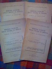 MEMORIE STORICHE DELLA DIOCESI DI BRESCIA - annata completa 1952  sotto i titoli