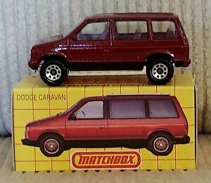 NOS 1984 Matchbox 1983 Dodge Caravan Limited Edition Los Vegas Made in England