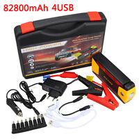 82800mAh Auto LCD 4 USB Jump Starter Ladegerät Power Bank Booster Starthilfe Neu