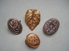 4 CLIPS Anciens Broches de Foulard ou de Corsage