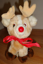 """Vintage Korea Russ Rudolph the Red Nosed Reindeer Roscoe 8"""" plush"""