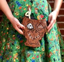 Disney Loungefly Trader Sam's Enchanted Tiki  Zombie Shrunken Head Crossbody Bag