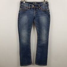 Silver Tuesday 16 1/2 Boot Cut Womens Medium Wash Blue Jeans Size 8P  - 28 x 28