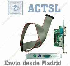 JF224 DELL Serial Port Add-in Card Full-height Bracket+cabe 2 PS2 Keyboard/mouse