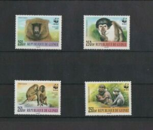 Guinea 2000 WWF Mangabey & Baboon set MNH per scan