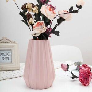 Creative Plastic Vase Imitation Ceramic Glaze Flower Pot Nordic Home Room Decor