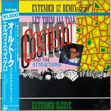 """1984""""NM Wax"""" Elvis Costello And The Attractions Let Them All Talk RPS-1003 Japan"""