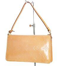 Authentic LOUIS VUITTON Lexington Baby Pink Vernis Pochette Hand Bag #11376