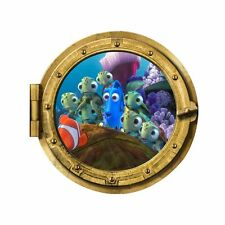 Finding Nemo Porthole Sea Wall Stickers Kids Bedroom Bathroom Decal Marlin