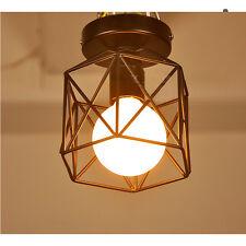 Retro Iron Round Cage Ceiling Pendant Light Lamp Fitting Fixture Shade 8914