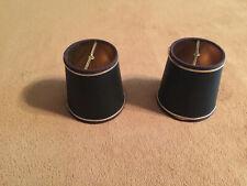 2 Small Black Cardboard lamp shades