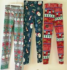 Christmas/Holiday Junior Super Plush High Rise Leggings (choose pattern & size)