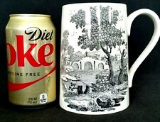 Black Tolle Ware Porcelain Oversize Early Piece Large White Mug England