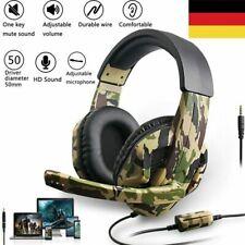 Gaming Headset 3.5mm Game Kopfhörer mit Mikrofon für PS4/PC/Laptop/Phone/Xbox DE