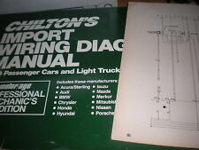 1989 TOYOTA COROLLA WIRING DIAGRAMS SCHEMATICS MANUAL SHEETS SET