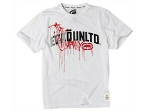 "Ecko Red Unltd Mens White Black & Red T Shirt Small 38""  96cm Free UK Shipping"