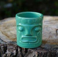 Green Tiki Espresso Mini Mug Shot Glass Otto Luau Party Tribal Hawaii 2003