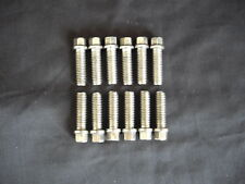 HEADER BOLTS STAINLESS STEEL 3/8 16 FORD CHEV SET OF 12