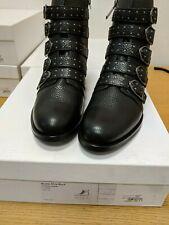 Karen Millen Bronte Black Ankle Boots Ladies Size 4 New Ref HVR