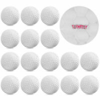 TOYMYTOY 24PCS Plastic Golf Balls White Indoor Practice Training Aids for Kids
