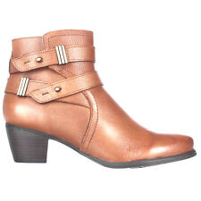 """Naturalizer """"Karmic"""" Leather Belted Ankle Bootie Brown 12M NIB"""