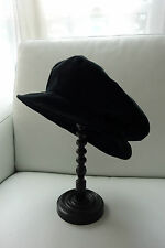 CHAPEAU chic NOIR velours Gina Diwan Made in France 54cm NEUF Black HAT for girl