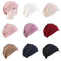 Muslim Women Ladies Elastic Hat Hair Loss Cap Chemo Turban Cover Headwear Beanie