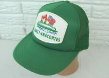 Vintage SIDNEY ANACORTES Ferry Boat Snapback Cap Baseball Mesh Patch Hat