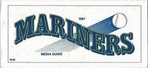 1987 SEATTLE MARINERS MLB MEDIA GUIDE VINTAGE