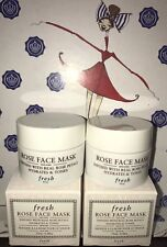 2X FRESH Rose Face Mask HYDRATES TONES Infused Real Rose Petals .5 oz/15 ml Each