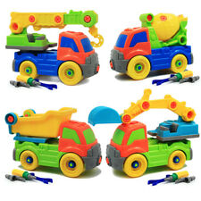 Cars Puzzle Assembly Construction Trucks Plastic Building Toys for Boy with tool