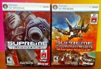 pc Supreme Commander 1 + Forged Alliance  CD Game  - 2 Game Lot Complete !