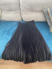 Pleated Skirt Size 8 Black