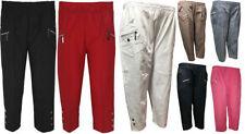 Plus Size Viscose Mid Rise Capri, Cropped Trousers for Women
