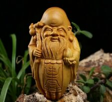 JP110ca - 8*4.5*3.5 CM Carved Boxwood Carving Figurine - God of Longevity