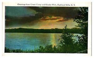 1934 Greetings from Unser Camp & Kinder-Welt, Highland Mills, NY Postcard *5N13