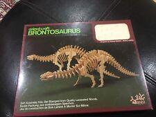 Vintage Brontosaurus Dinosaurus 3D Wooden Model Puzzle In Sealed Package