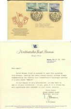 1955 Berlin Germany First Day Cover 9N113 and 114 - with NDL Bremen letterhead